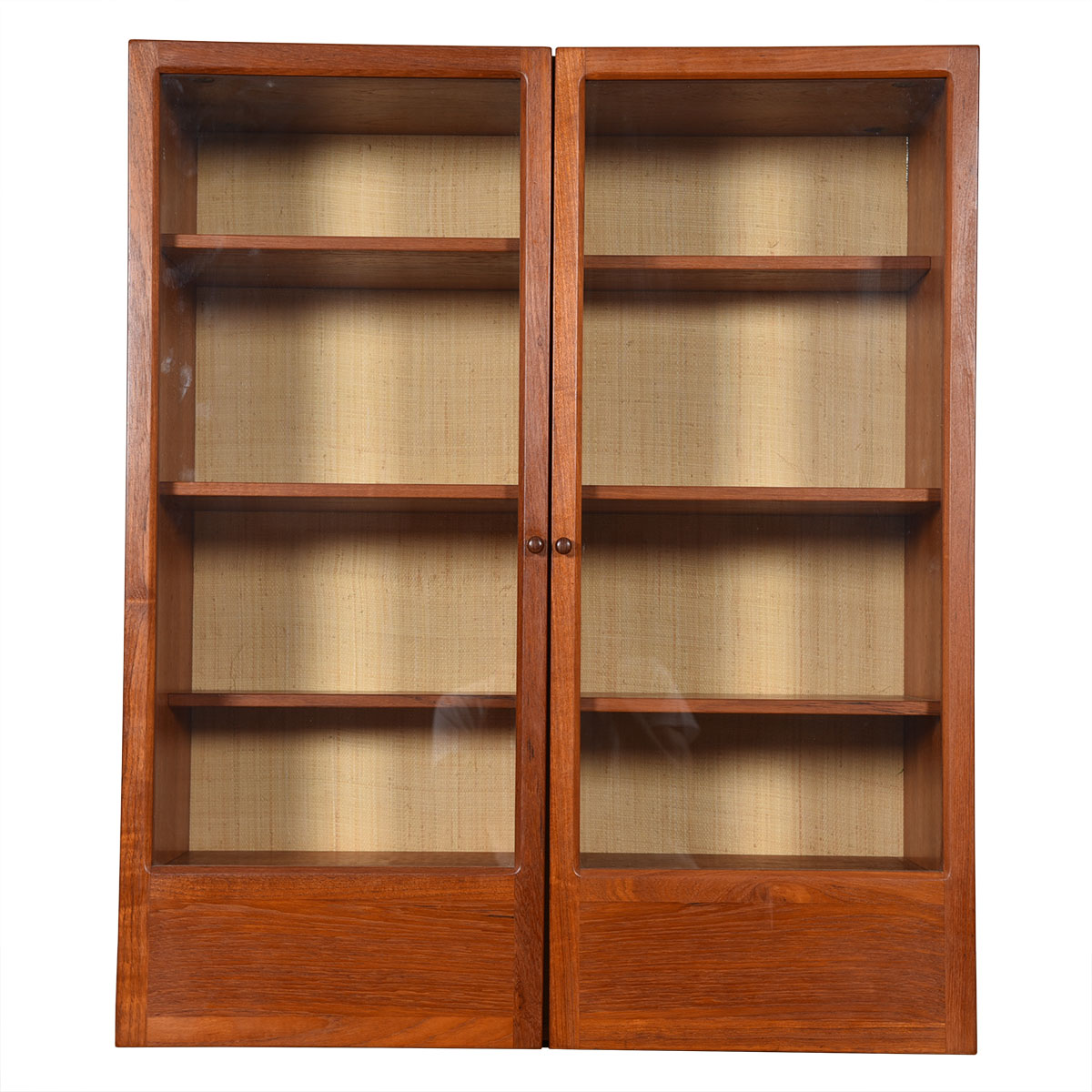Danish Modern Teak Hanging Display Cabinet w/ Glass Doors