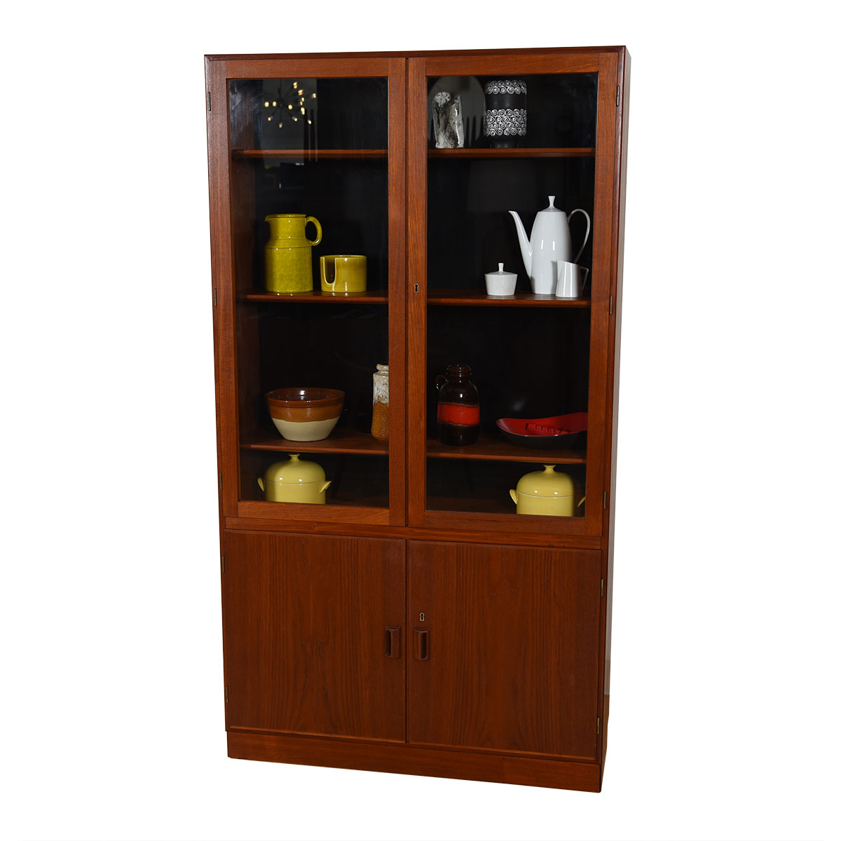 Danish Modern Teak Tall Display / Storage Cabinet by Borge Mogensen