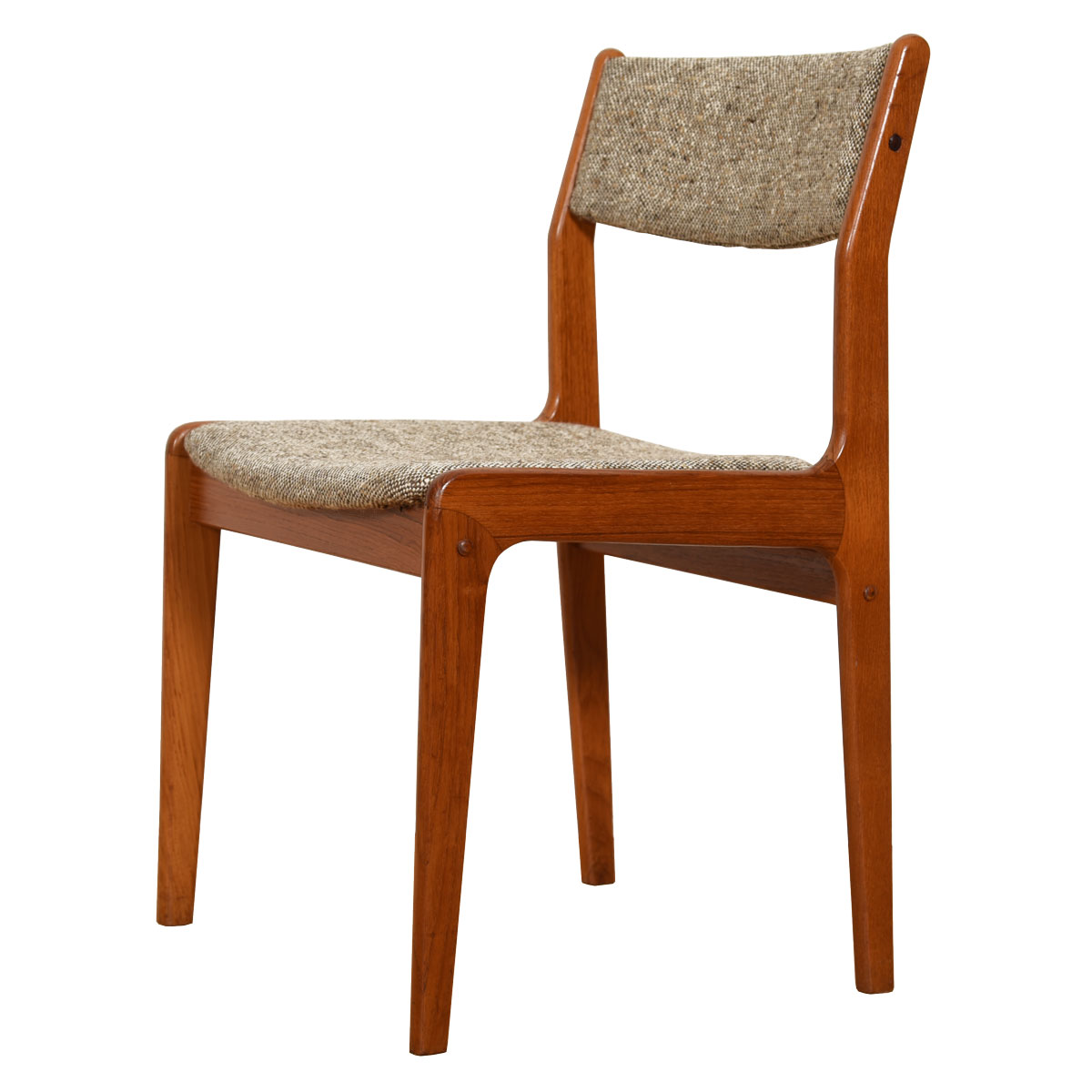 Single Danish Modern Teak Dining / Accent Chair