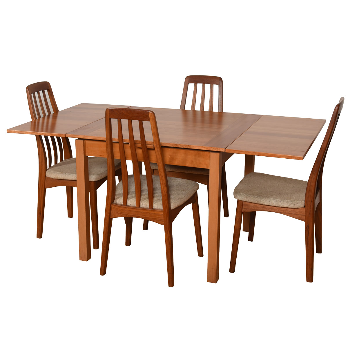Square-to-Rectangle Danish Compact Expanding Dining Table