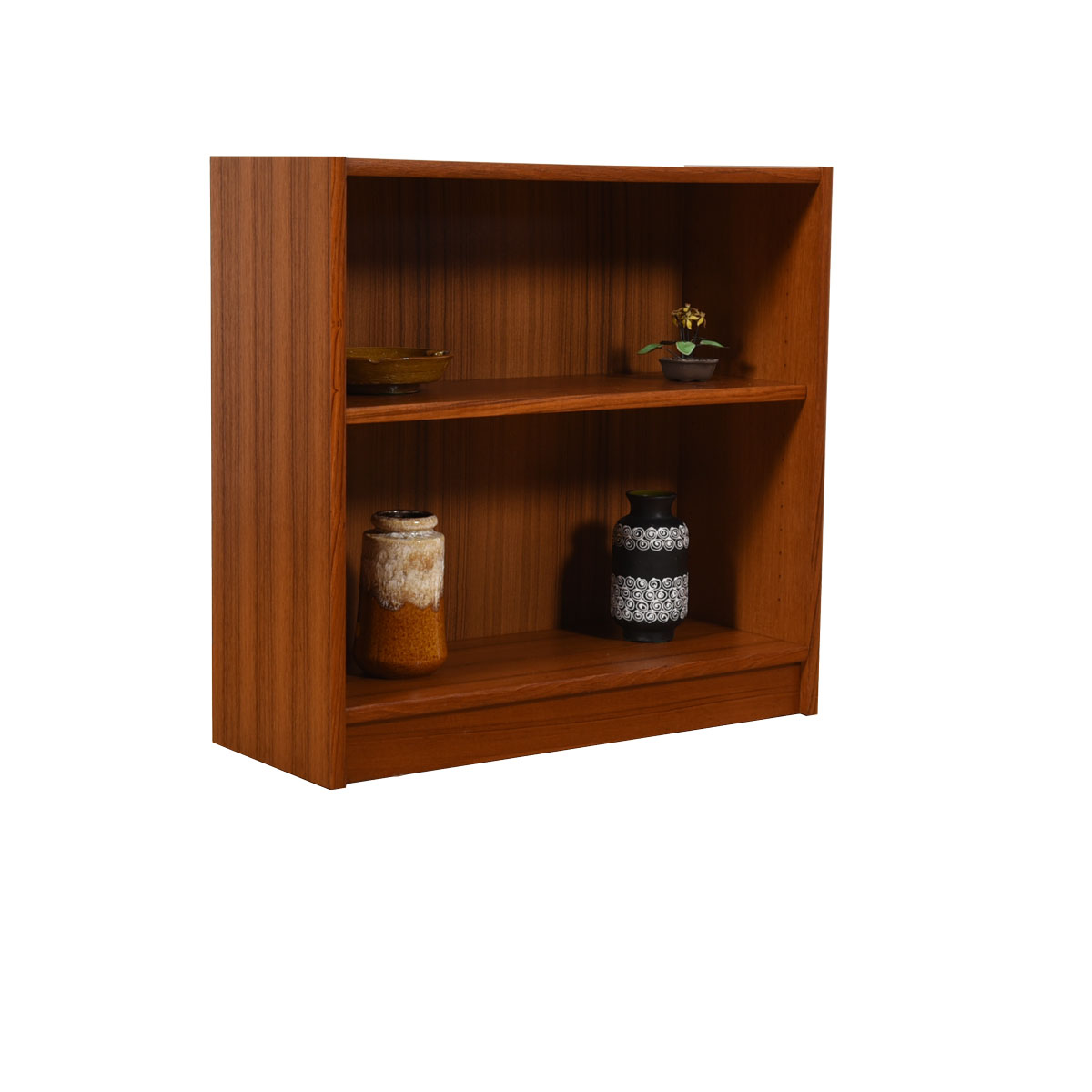 Petite Danish Modern Bookcase in Teak