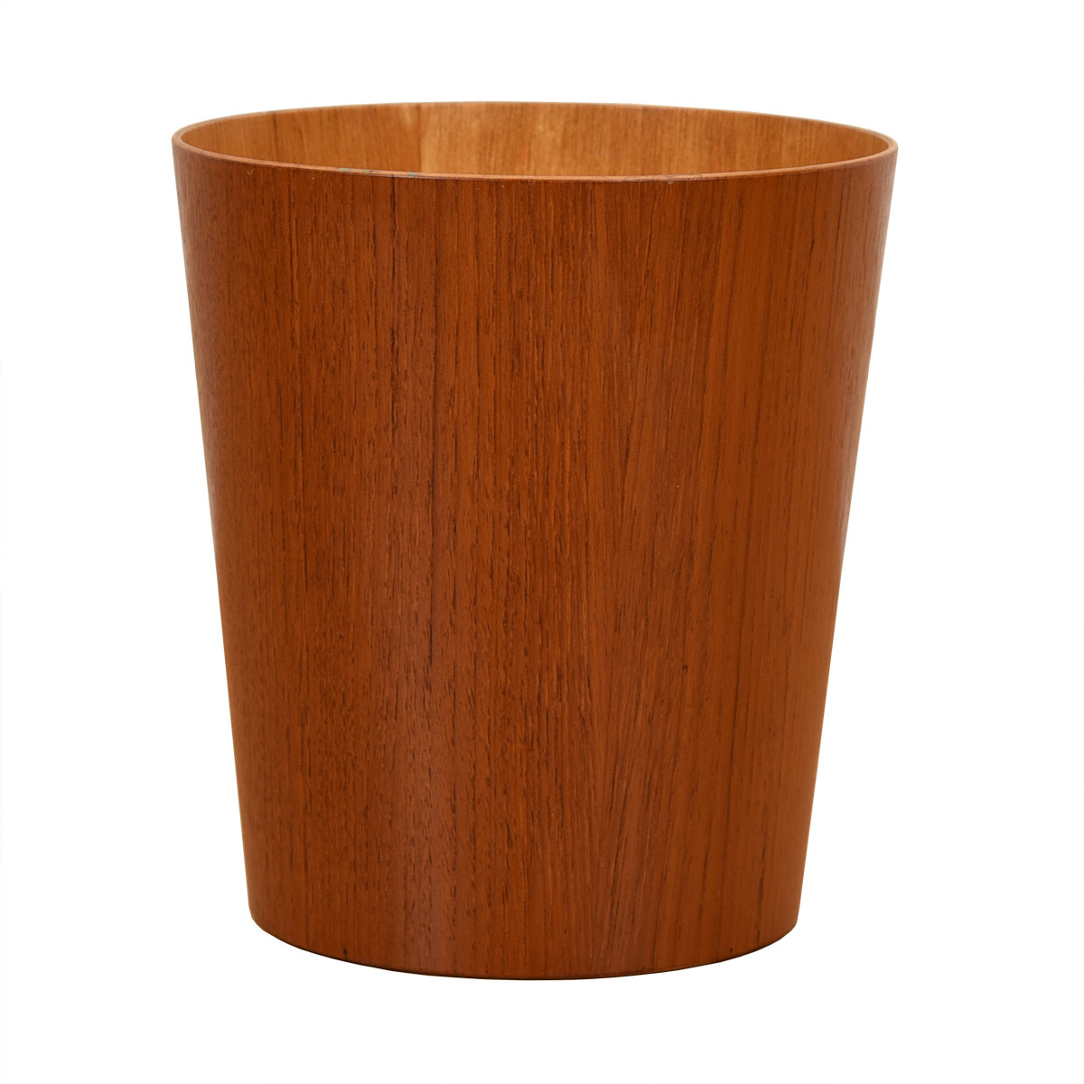 Small Danish Modern Teak Waste Basket
