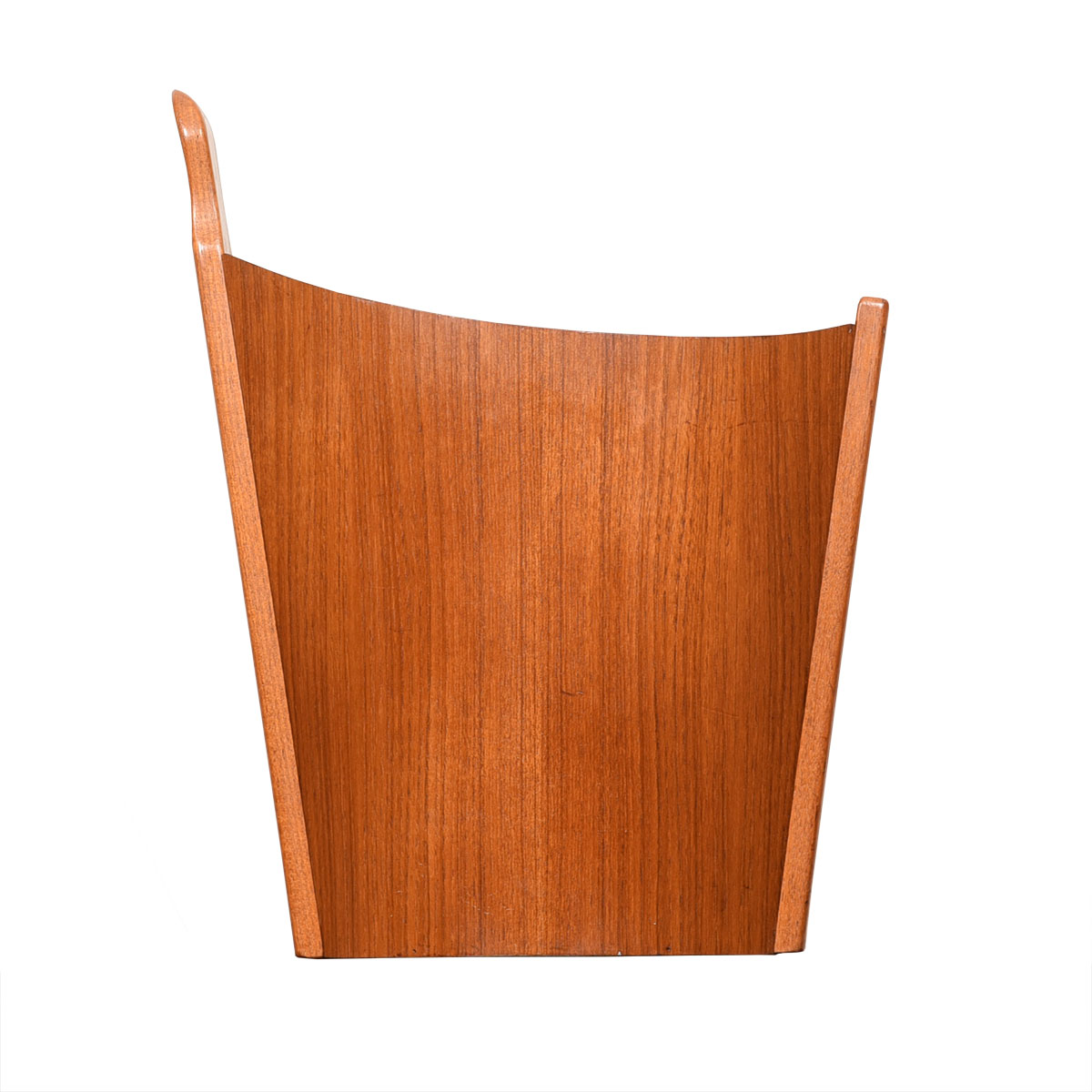Danish Teak Sculptural Waste Basket by Westnofa