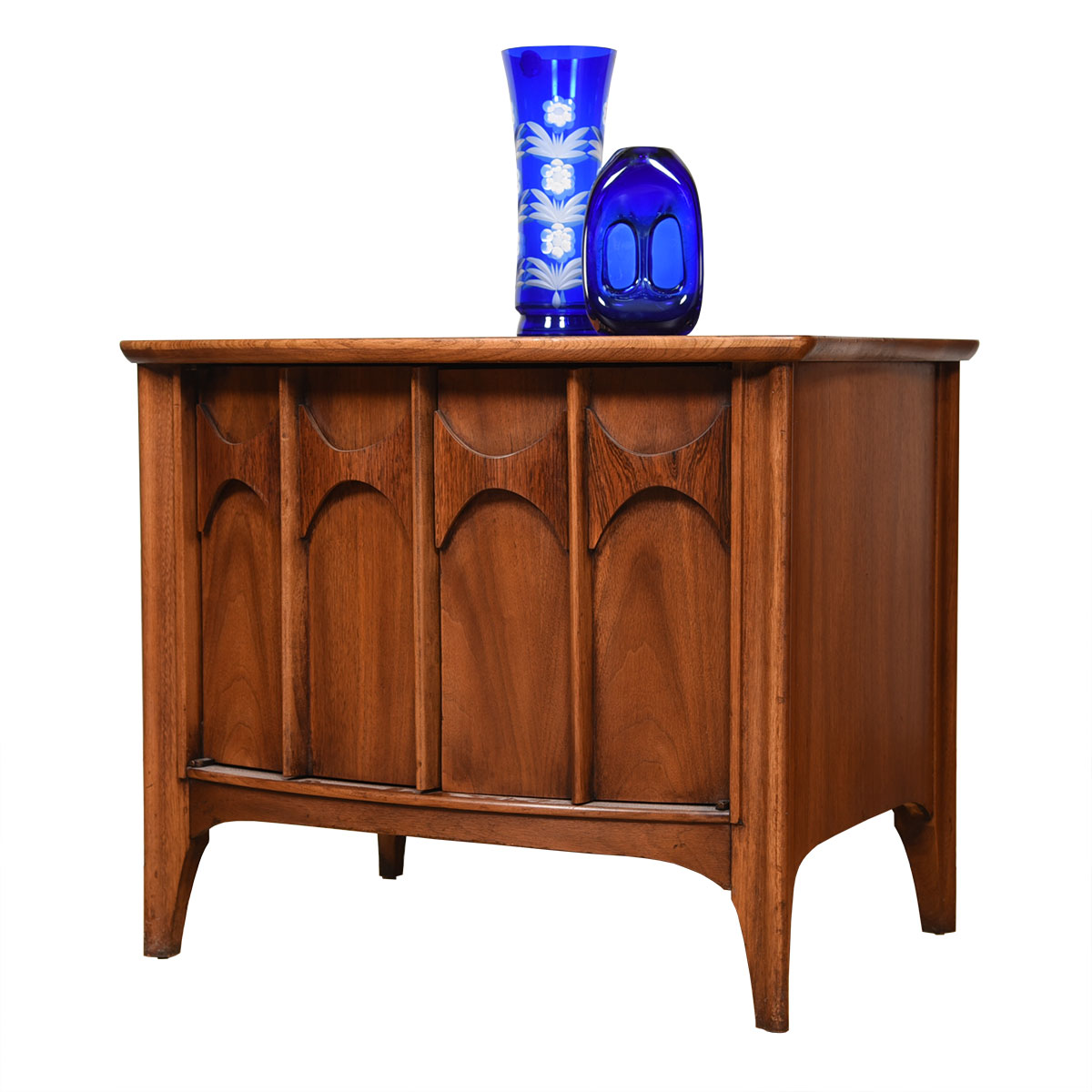 Kent-Coffey Perspecta MCM Sculpted Handle Accent Table w/ Storage