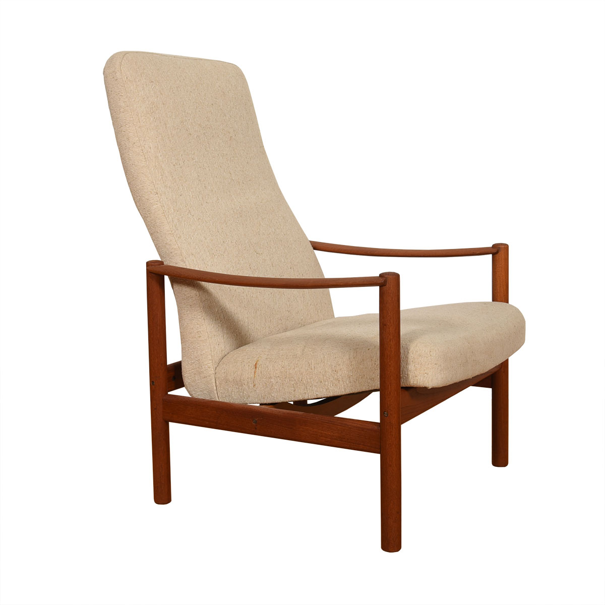 Reclining Norwegian Teak Lounge Chair