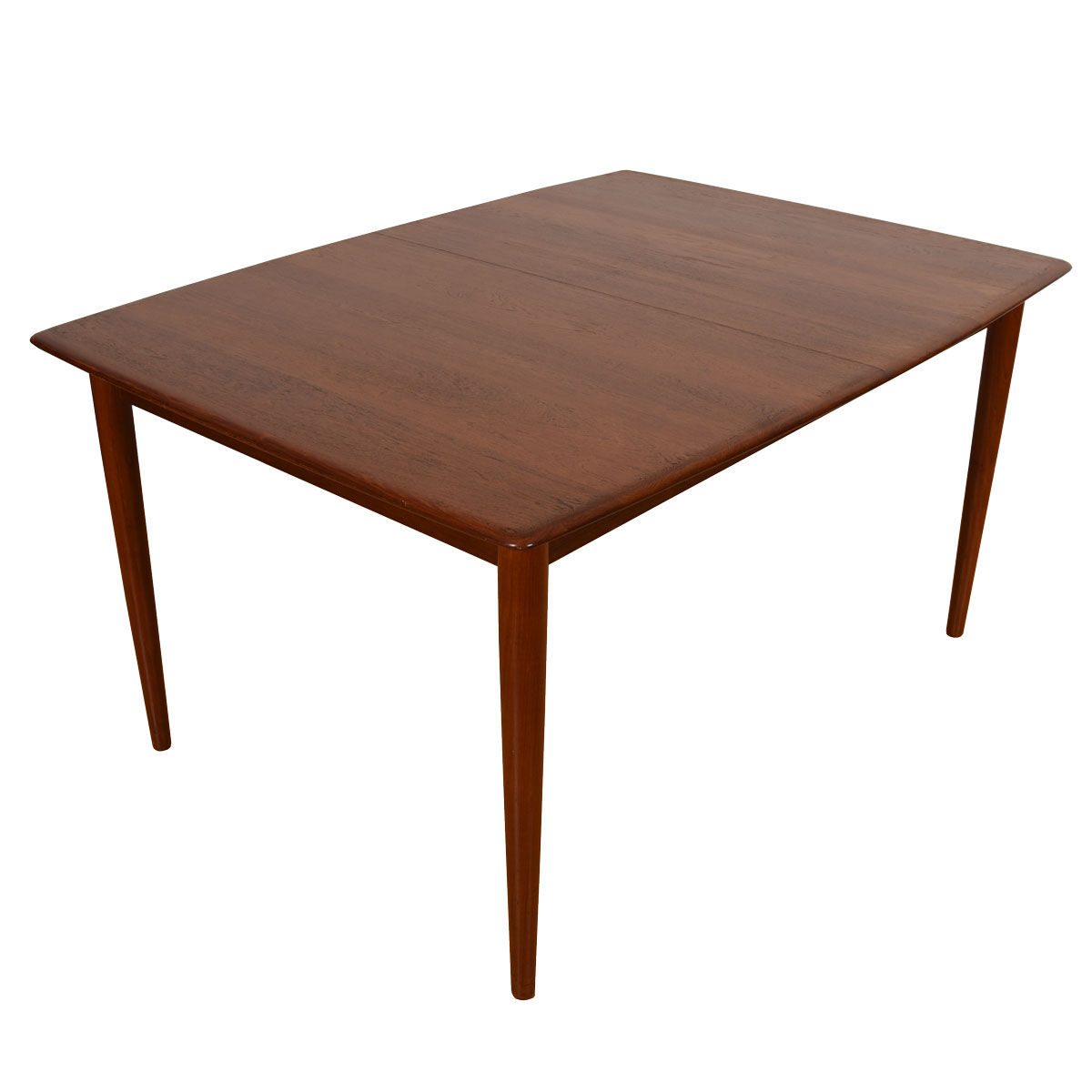 Peter Hvidt Danish Solid-Teak Compact Expanding Dining Table