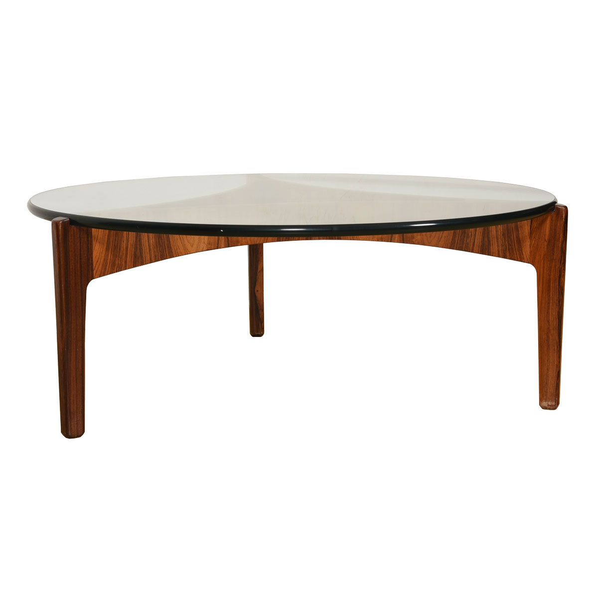 Sven Ellekaer Danish Rosewood Reverse Trefoil Floating Top Coffee Table