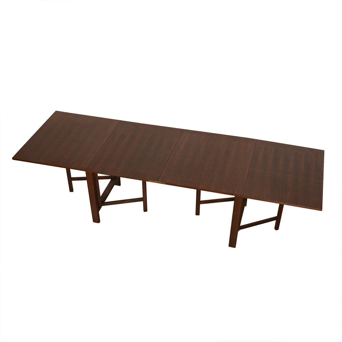 Swedish Super-Expanding 'Maria Flap' Walnut Dining Table