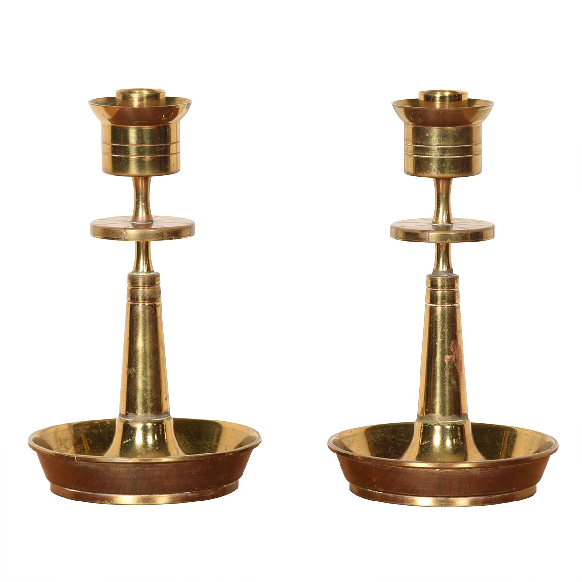 Tommi Parzinger Mid Century Brass Table Candle Holders