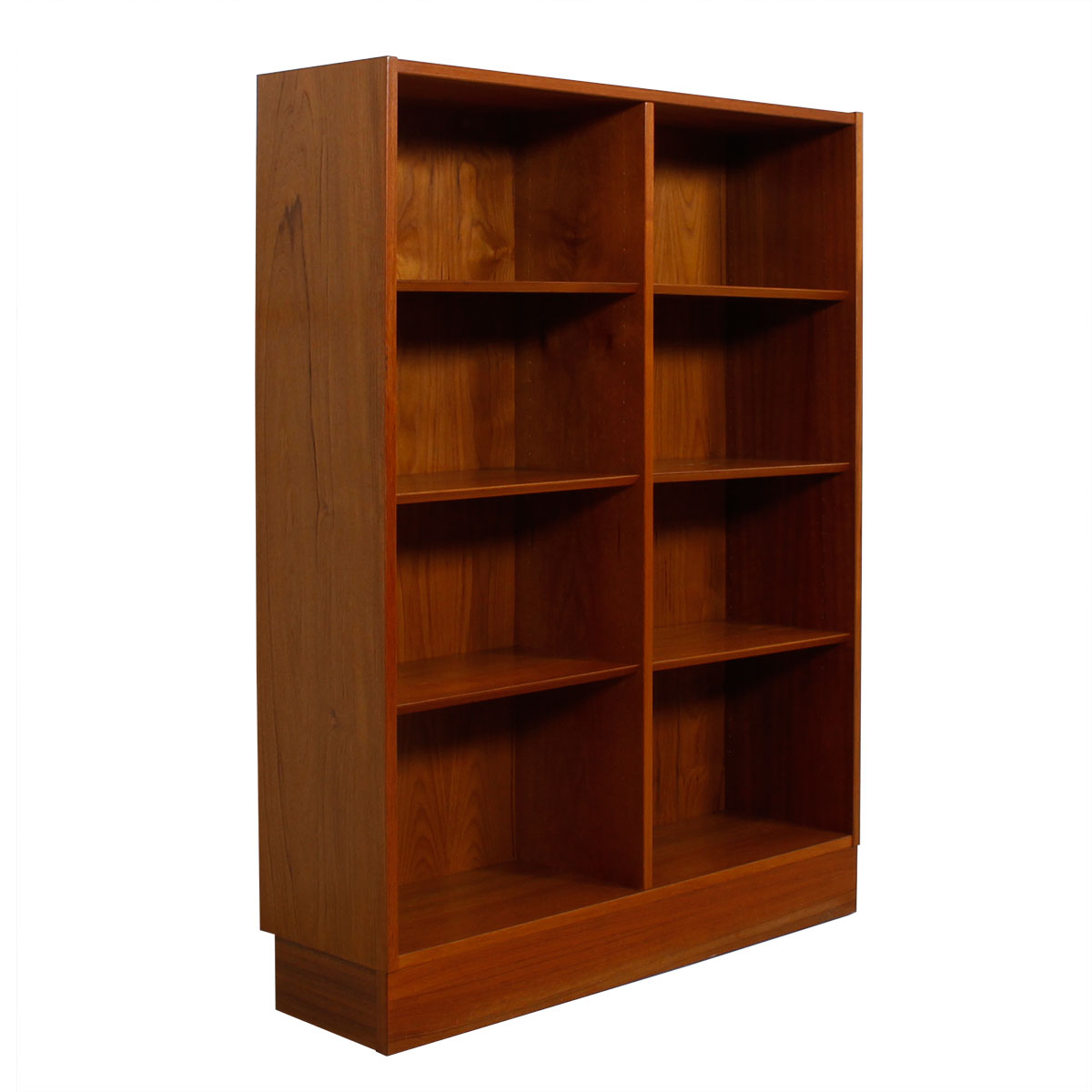 56″ Tall Compact Danish Modern Teak Bookcase
