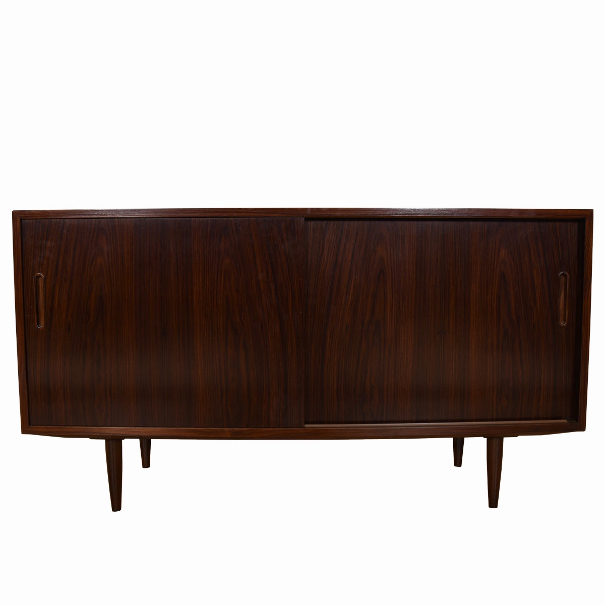 Rosewood Sliding Door Storage Cabinet / Sideboard with File Drawer