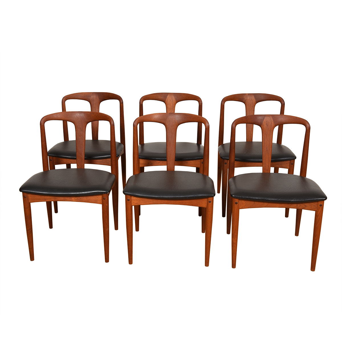 Set of 6 Johannes Andersen for Uldum Møbelfabrik Juliane Teak Dining Chairs