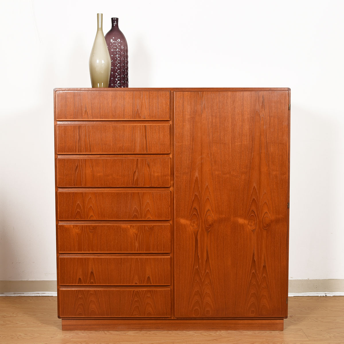 Danish Teak Door Dresser w/ Adjustable Shelves & Drawers