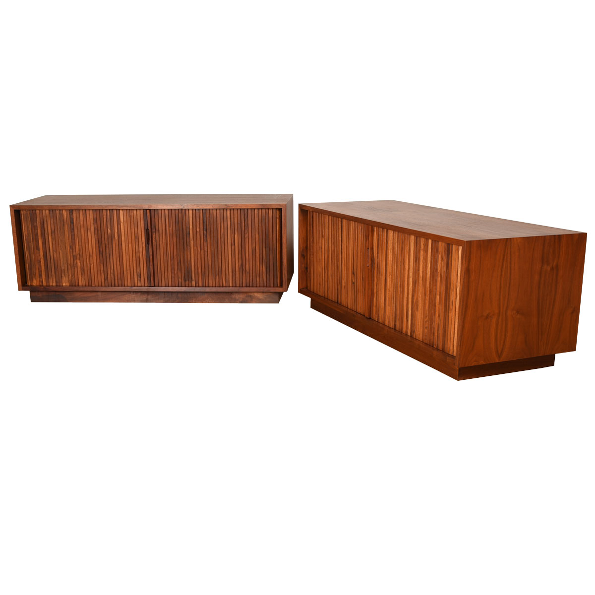 Pair of Milo Baughman for Glenn of California Record / Media Cabinets