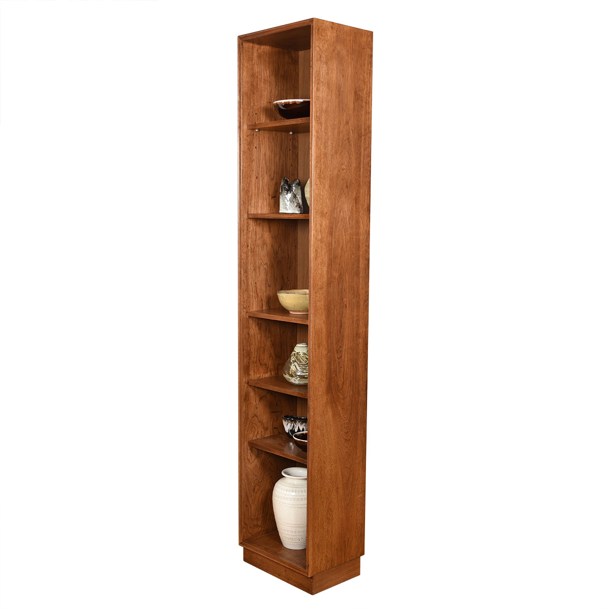 Thin + Tall Bookcase w/ Adjustable Shelves