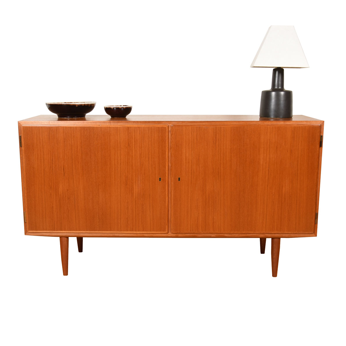 Locking Door Danish Teak Condo-Sized Storage Cabinet / Sideboard