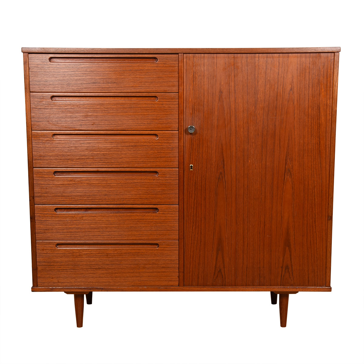 Danish Modern Teak Gentleman's Chest / Chest of Drawers