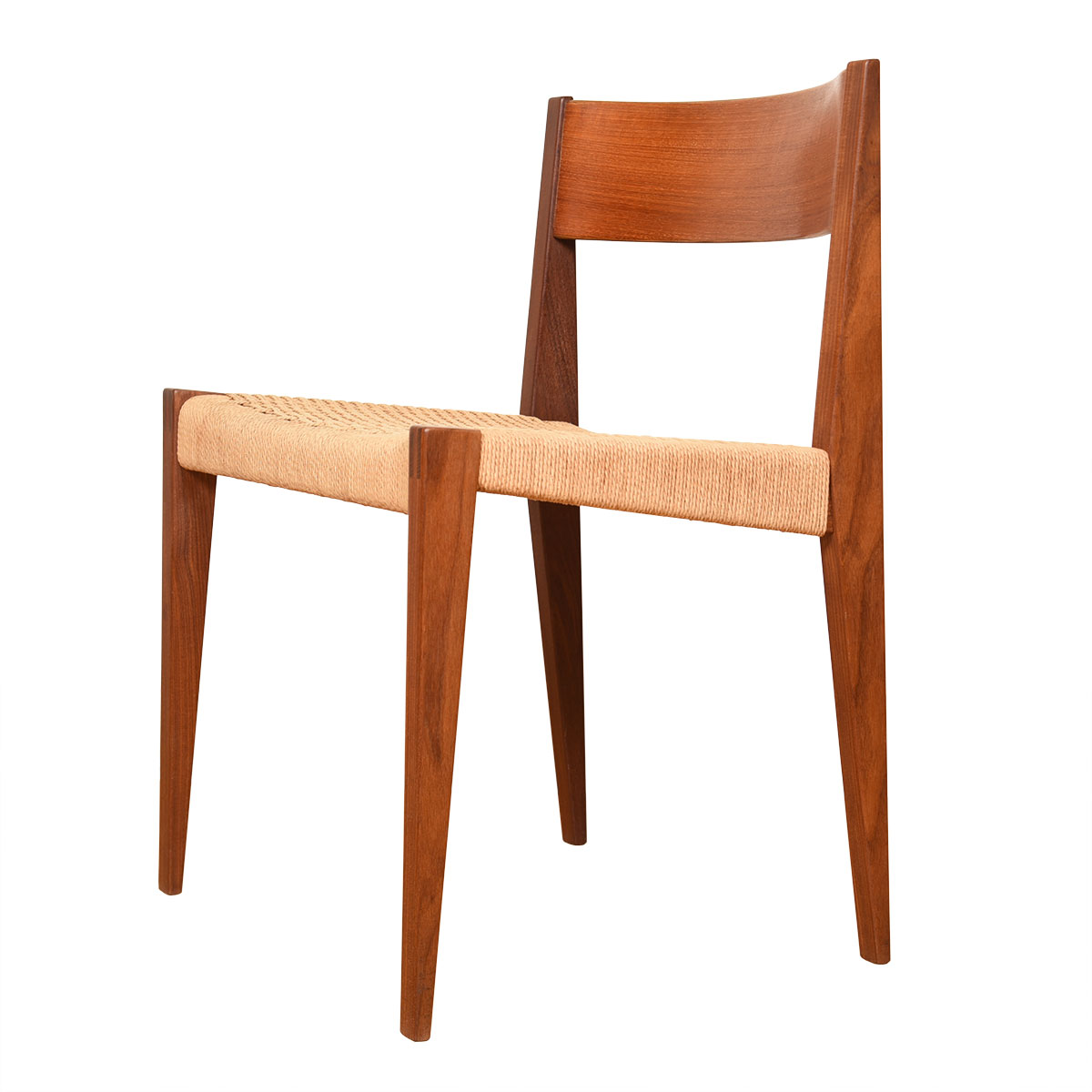Poul Cadovius Danish Modern Cord & Teak Single Accent Chair