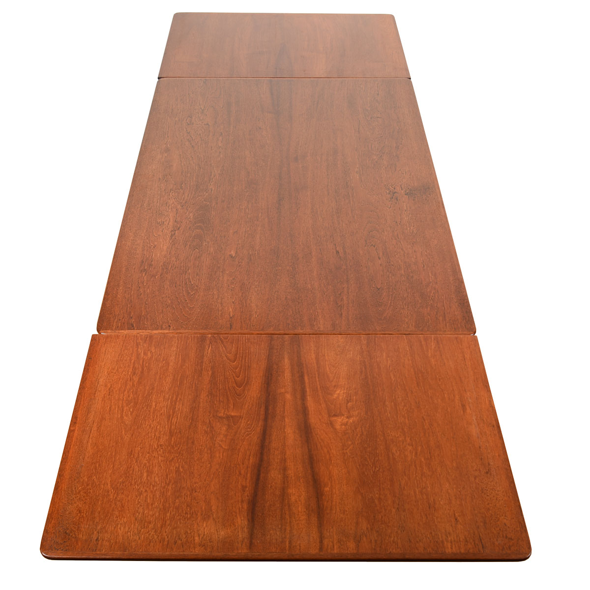 Early Danish Teak Expanding Mid-Sized Dining Table