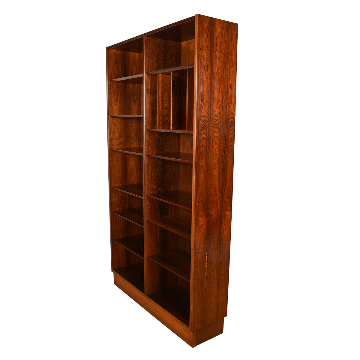 Danish Rosewood Stunning 42.5″ Bookcase w/ Adjustable Shelves