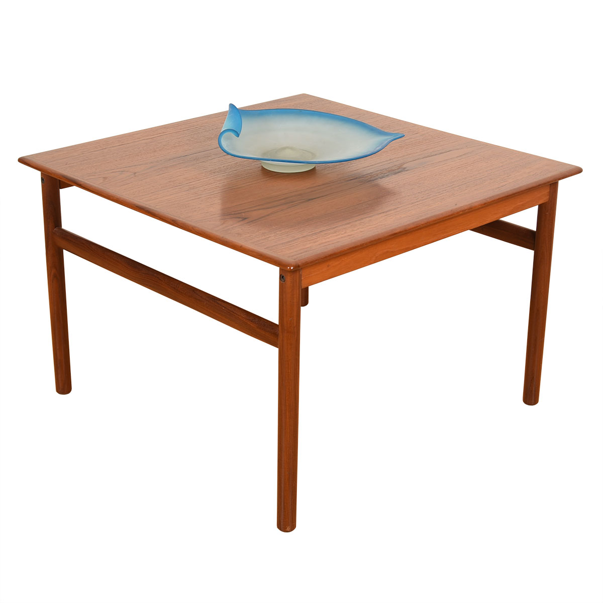28.5″ Square Danish Modern Teak Coffee / Accent Table