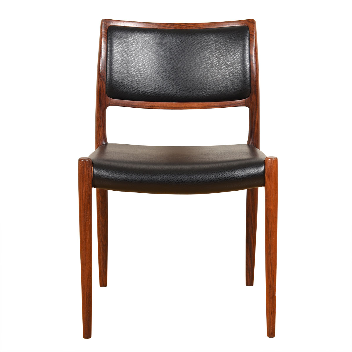 Newly Upholstered Danish Rosewood Niels Moller #80 Single Chair