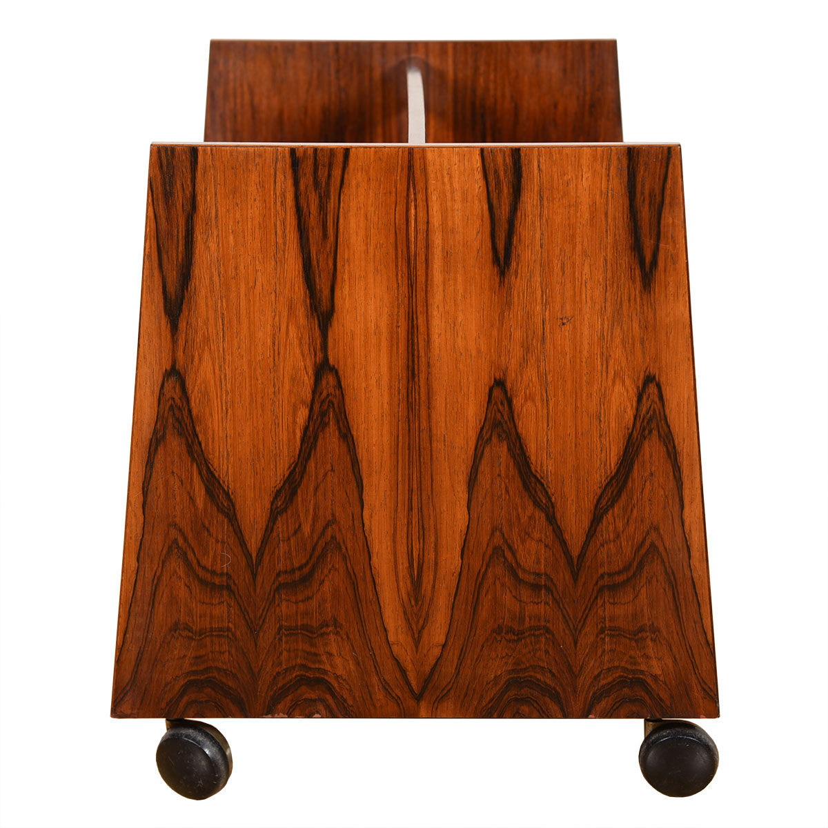 Gorgeous & Functional – Danish Rosewood Vinyl + Magazine Cart