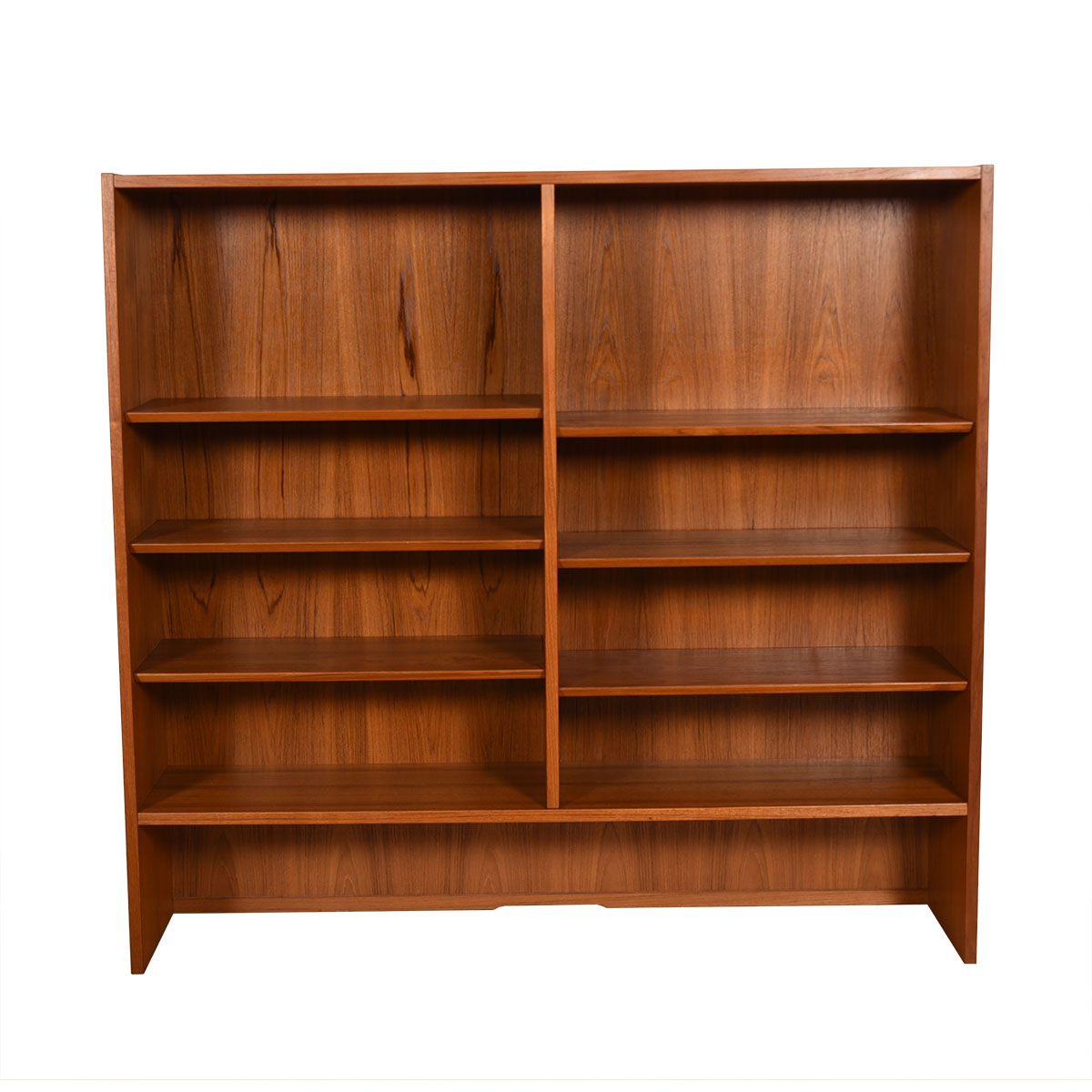 Danish Modern Teak Adjustable Bookcase / Display Cabinet Top