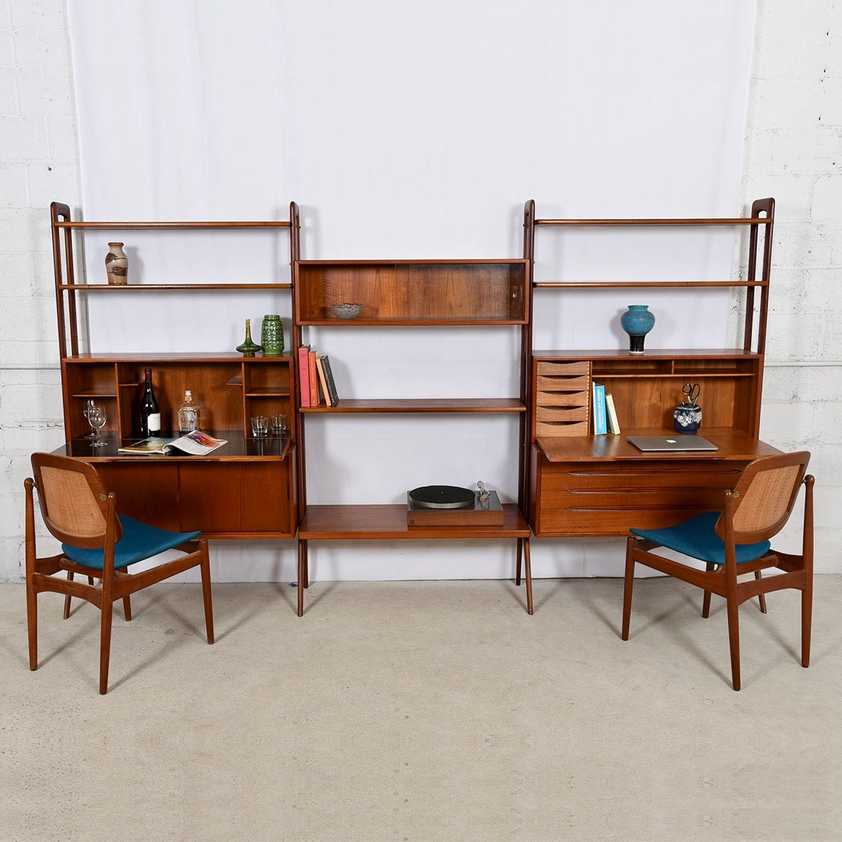 Kurt Ostervig Room Divider — Danish Teak Wall Unit