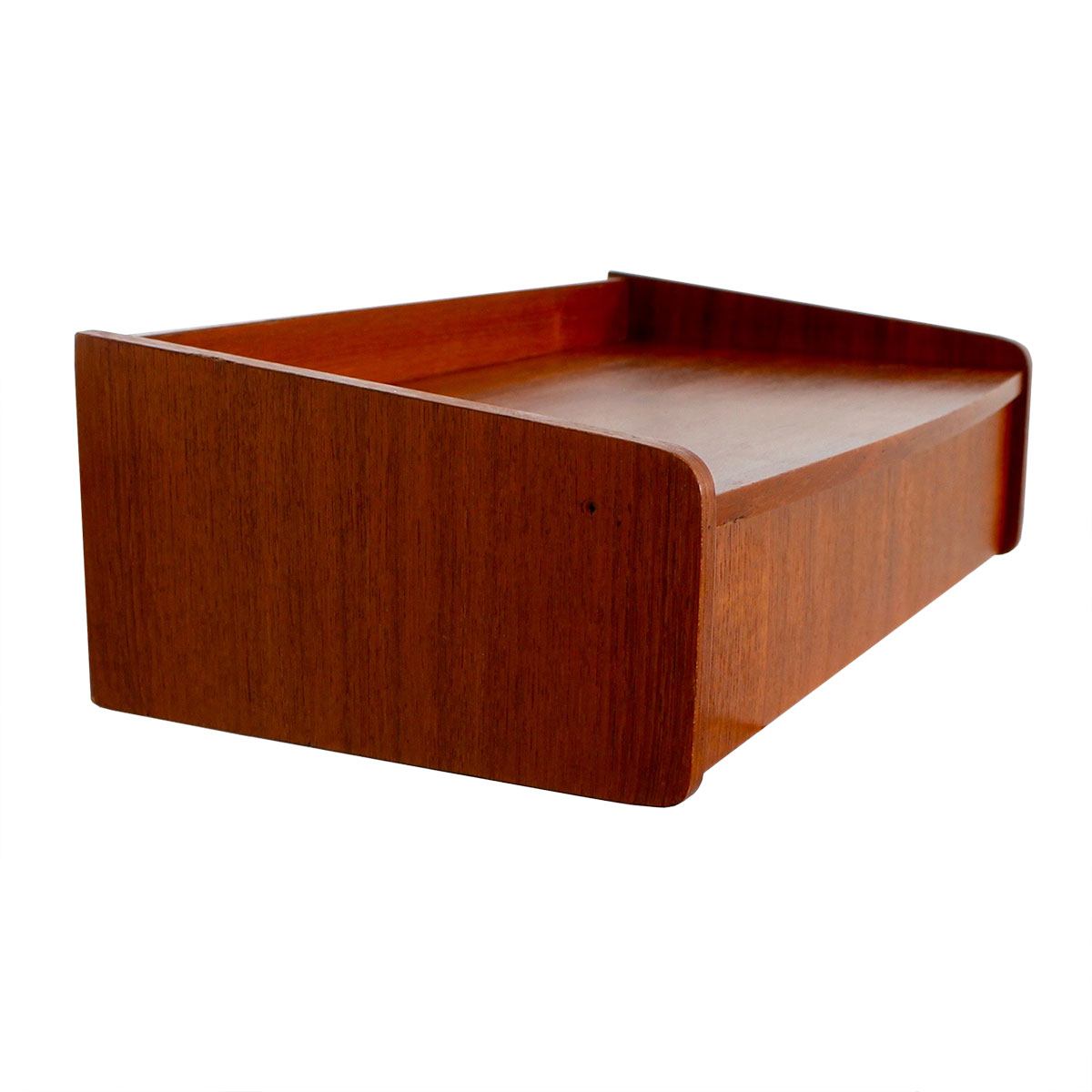 Danish Modern Teak Hanging Shelf w/ Drawer