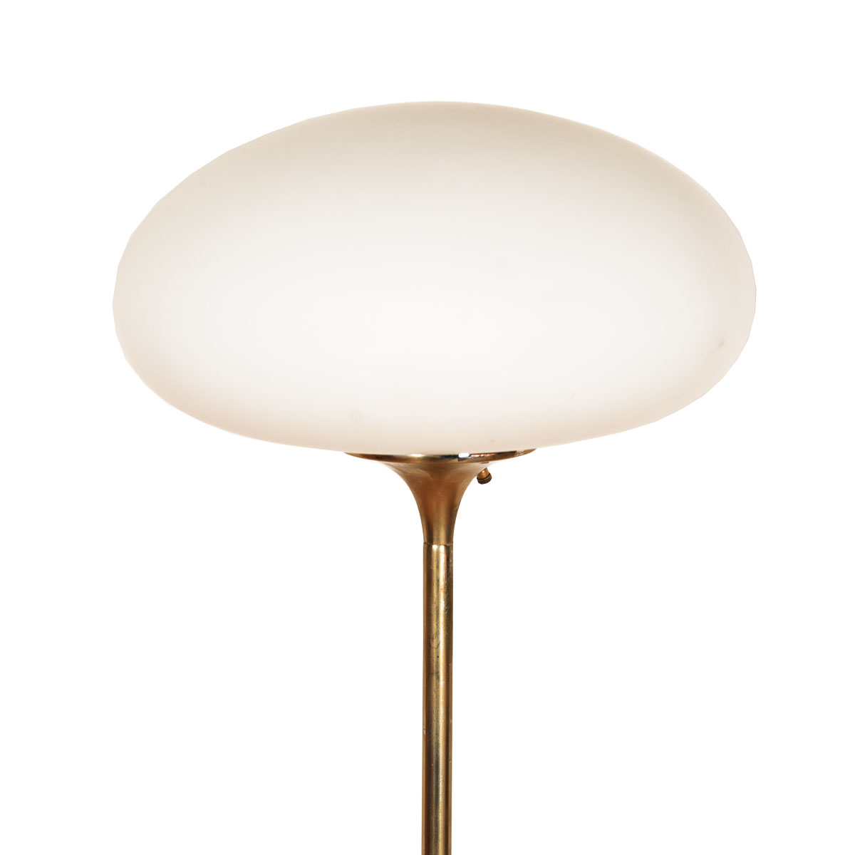 Laurel Mid-Century Brass Floor Lamp w/ Globe