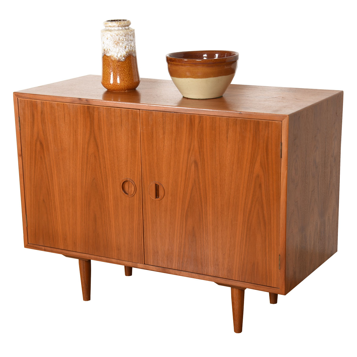 Danish Modern Walnut Little-Low Cabinet
