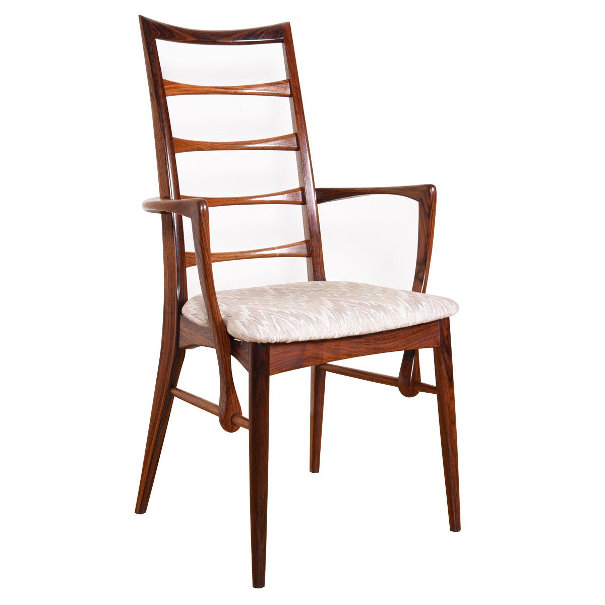 Set of 6 (2 Arm + 4 Side) Rosewood Dining Chairs by Koefoeds Hornslet