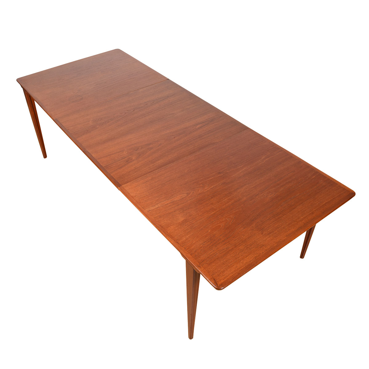 Illums Bolighus Danish Teak Expanding Dining Table w/ Sculpted Architectural Legs