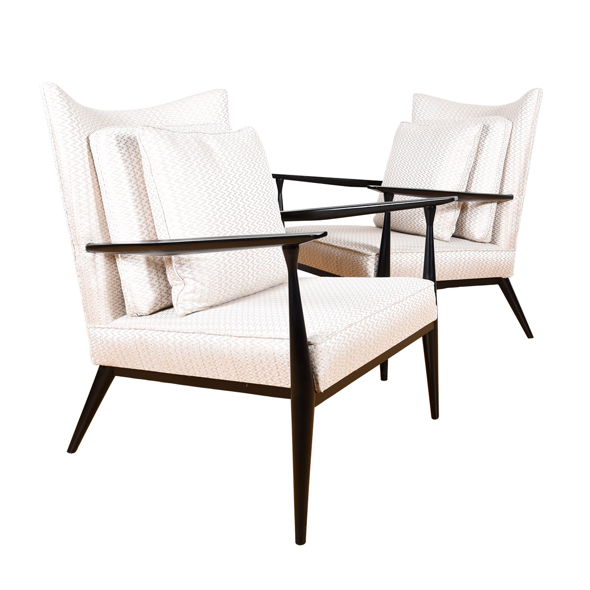 Pair of Mid Century  Lounge Chairs w/ Arms