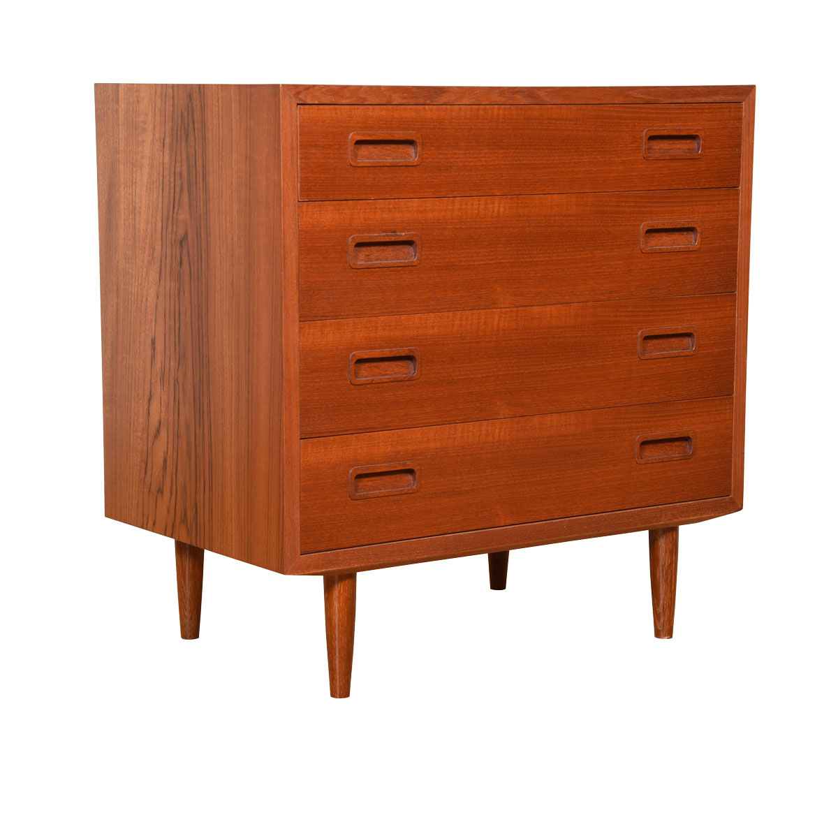 Petite 28″ Danish Teak 4-Drawer Chest of Drawers / Dresser