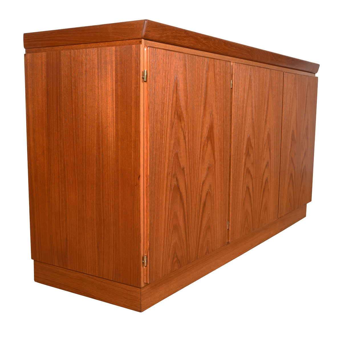 32.5″ Tall Danish Teak Sideboard / Storage Cabinet with 3 Doors