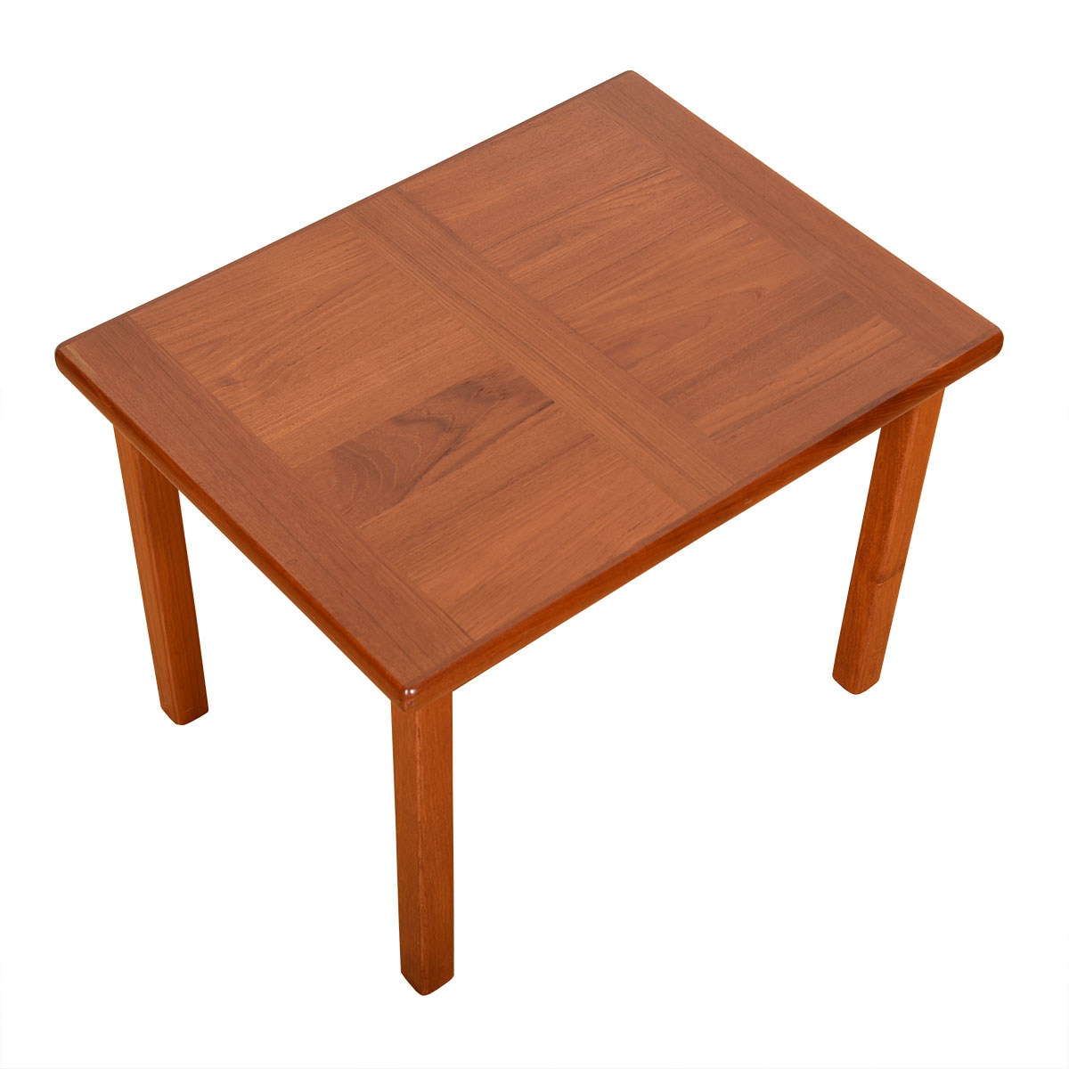 Danish Modern Teak Cross-Grained Accent / Side Table