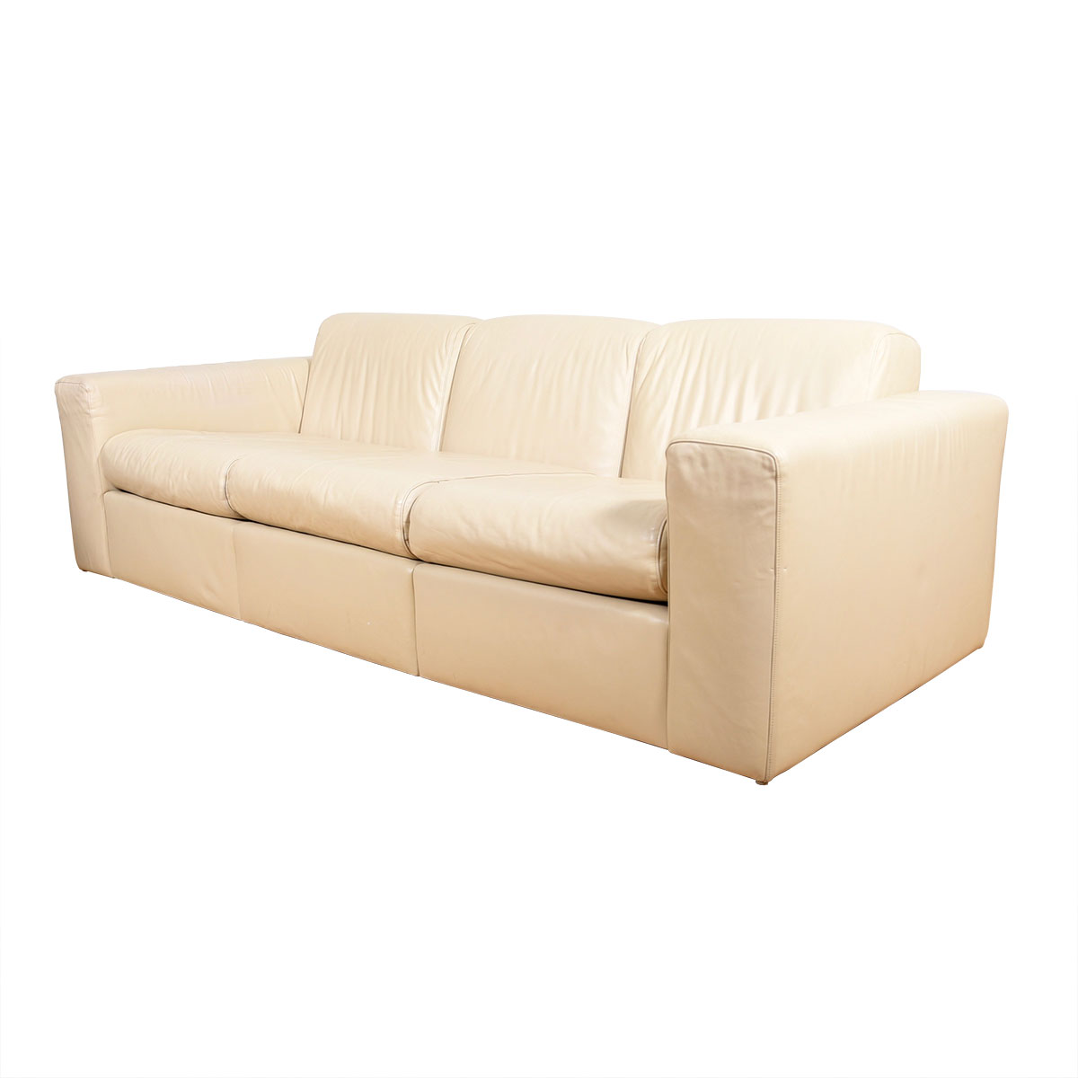 Jack Cartwright Leather American Modernist Sofa — Superb Condition!