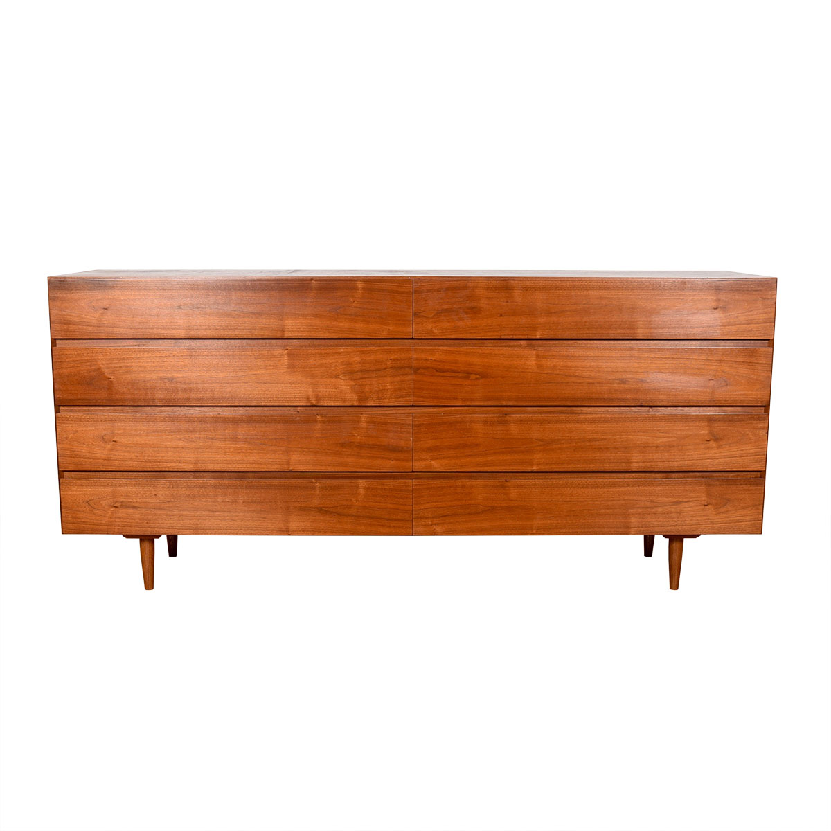 Danish Modern Teak Long 8-Drawer Dresser