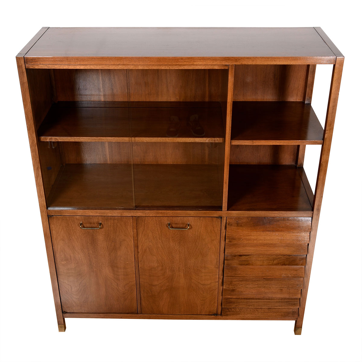 Mid Century Walnut Display Cabinet by American of Martinsville