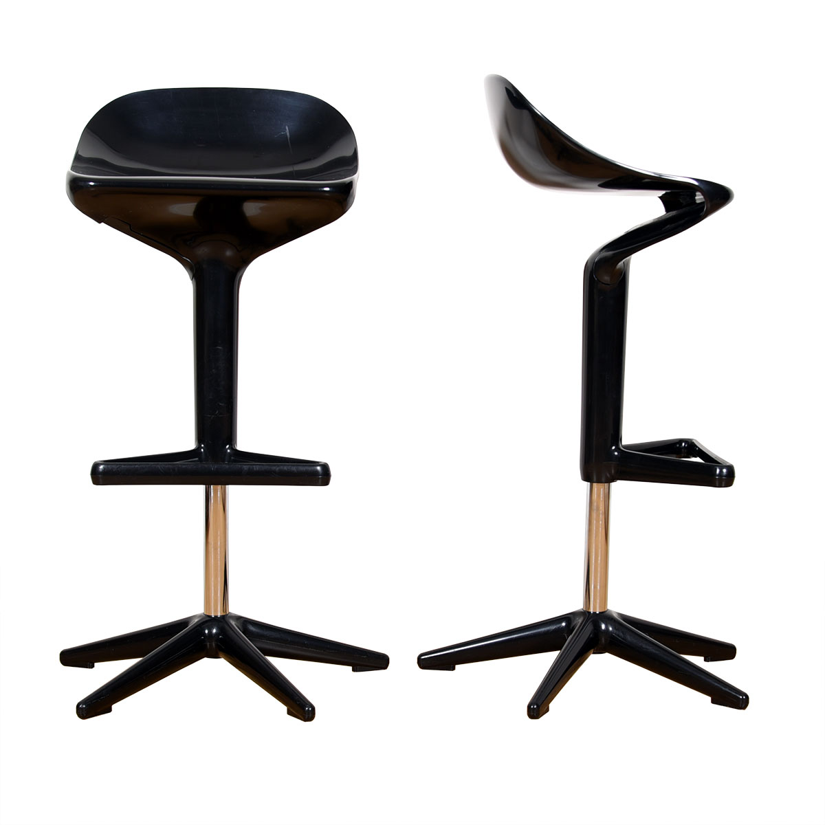 Adjustable Kartell Spoon Stools