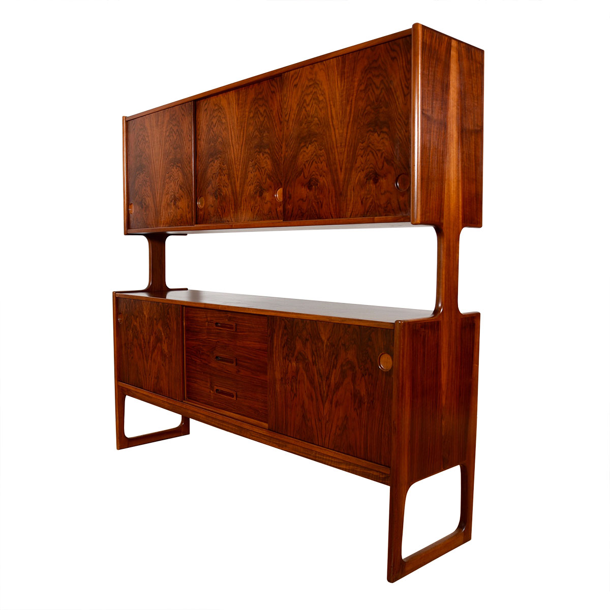 The Double-Decker >> Danish Modern Rosewood Highboard / Room Divider