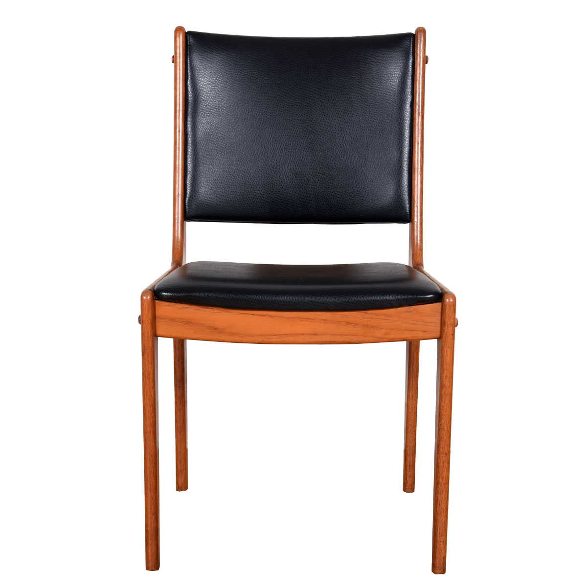 Set of 6 Teak and Black Dining Chairs by Johannes Andersen