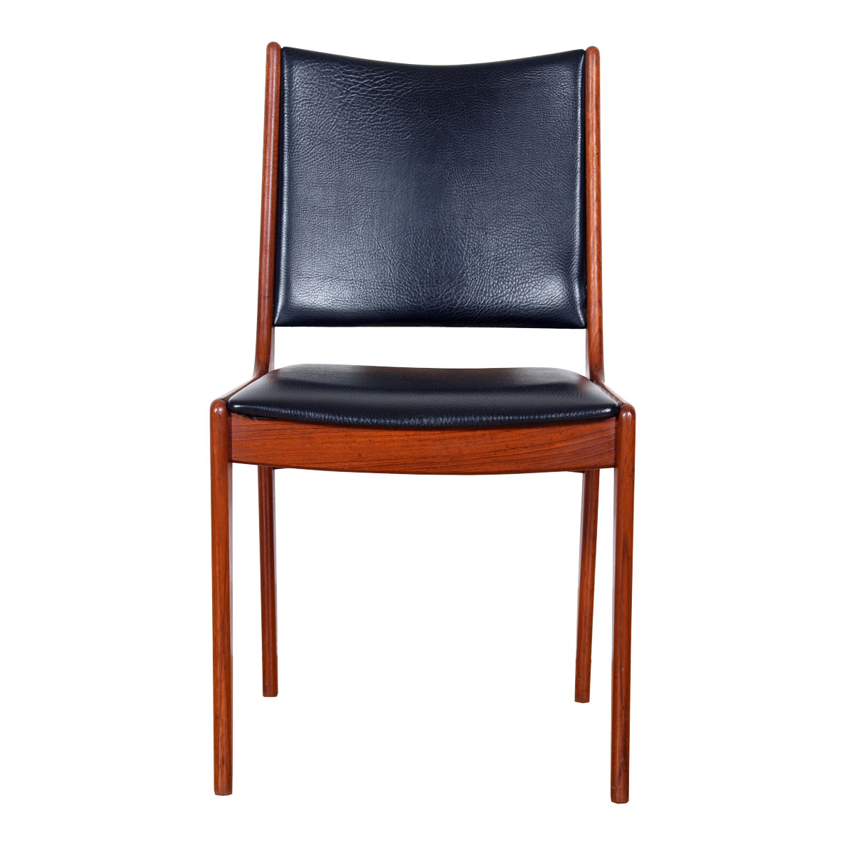 Set of 4 Teak and Black Dining Chairs by Johannes Andersen