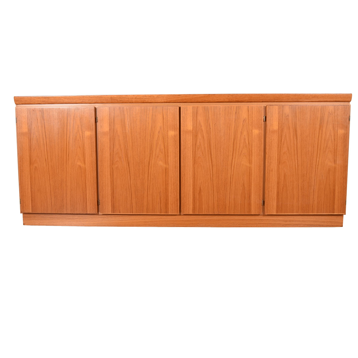 Four Door Danish Modern Teak Credenza / Bar Cabinet