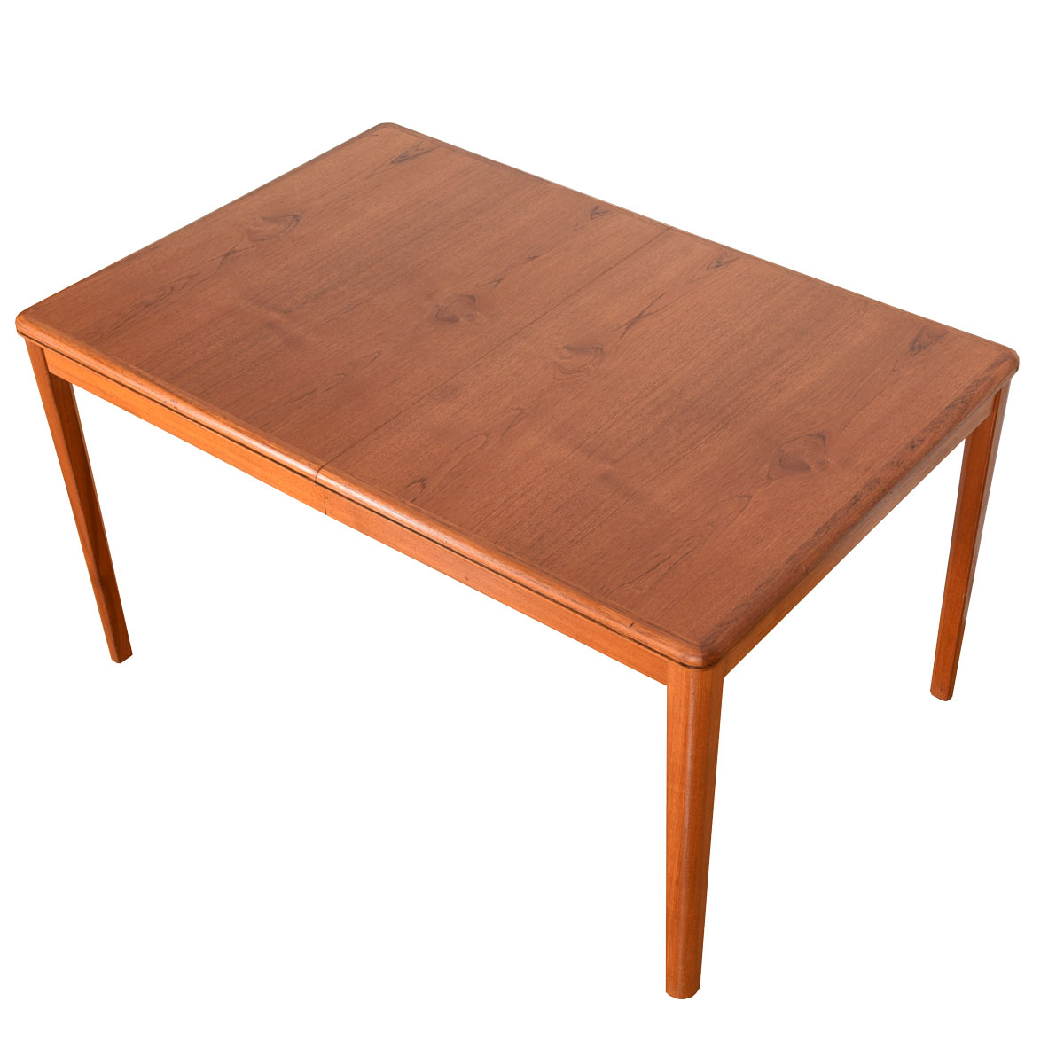 Swedish Mid-Sized Teak Expanding Dining Table