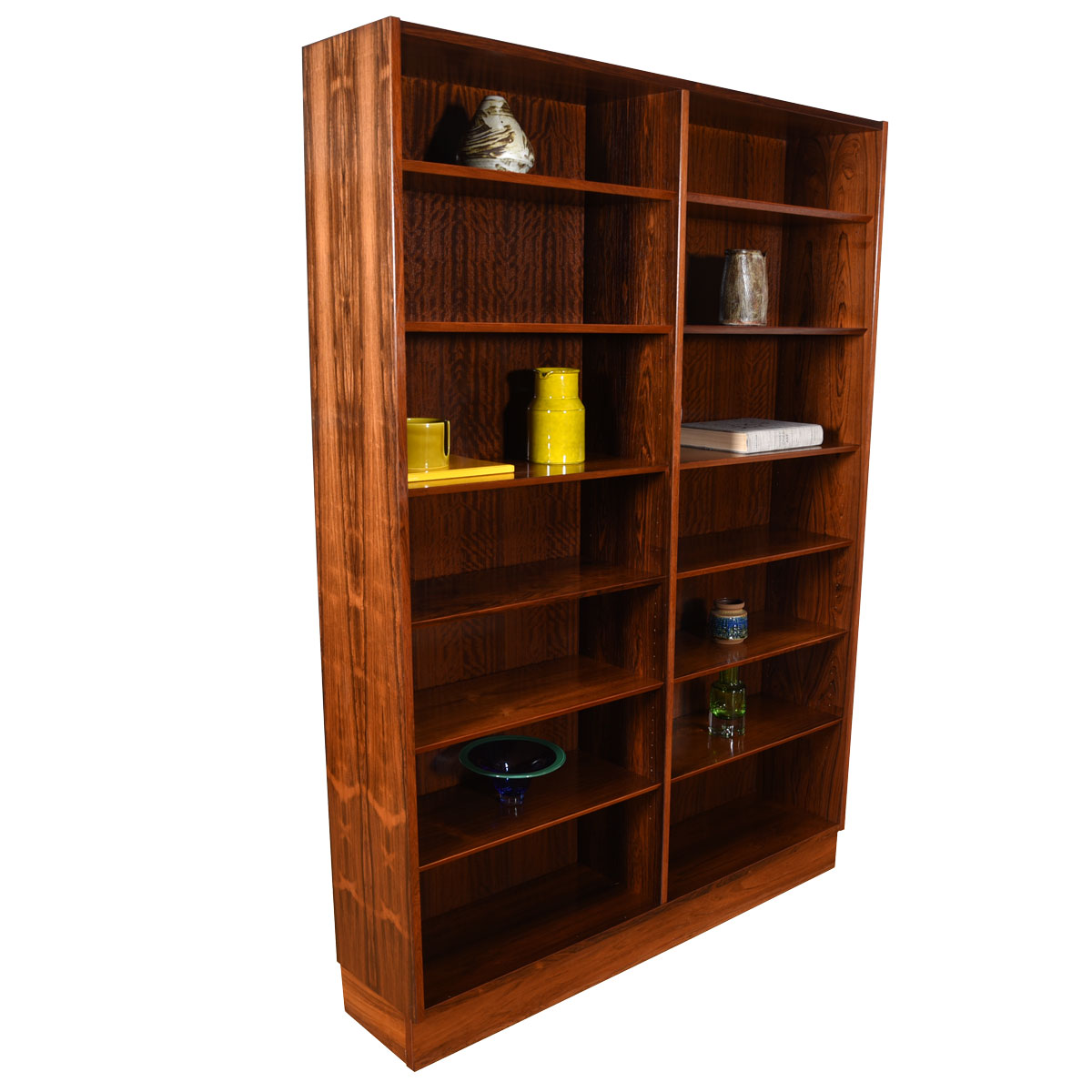 54″ Danish Modern Bookcase in Rosewood with Adjustable Shelves