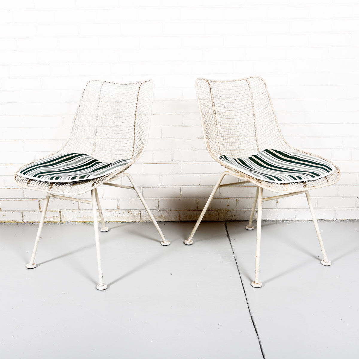 1950s Sculptura Set of 4 Patio Chairs (2 arm + 2 side) by Russell Woodard