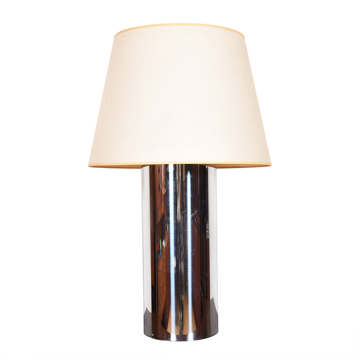 Mid Century Chrome Double-Socketed Table Lamp by Kovacs